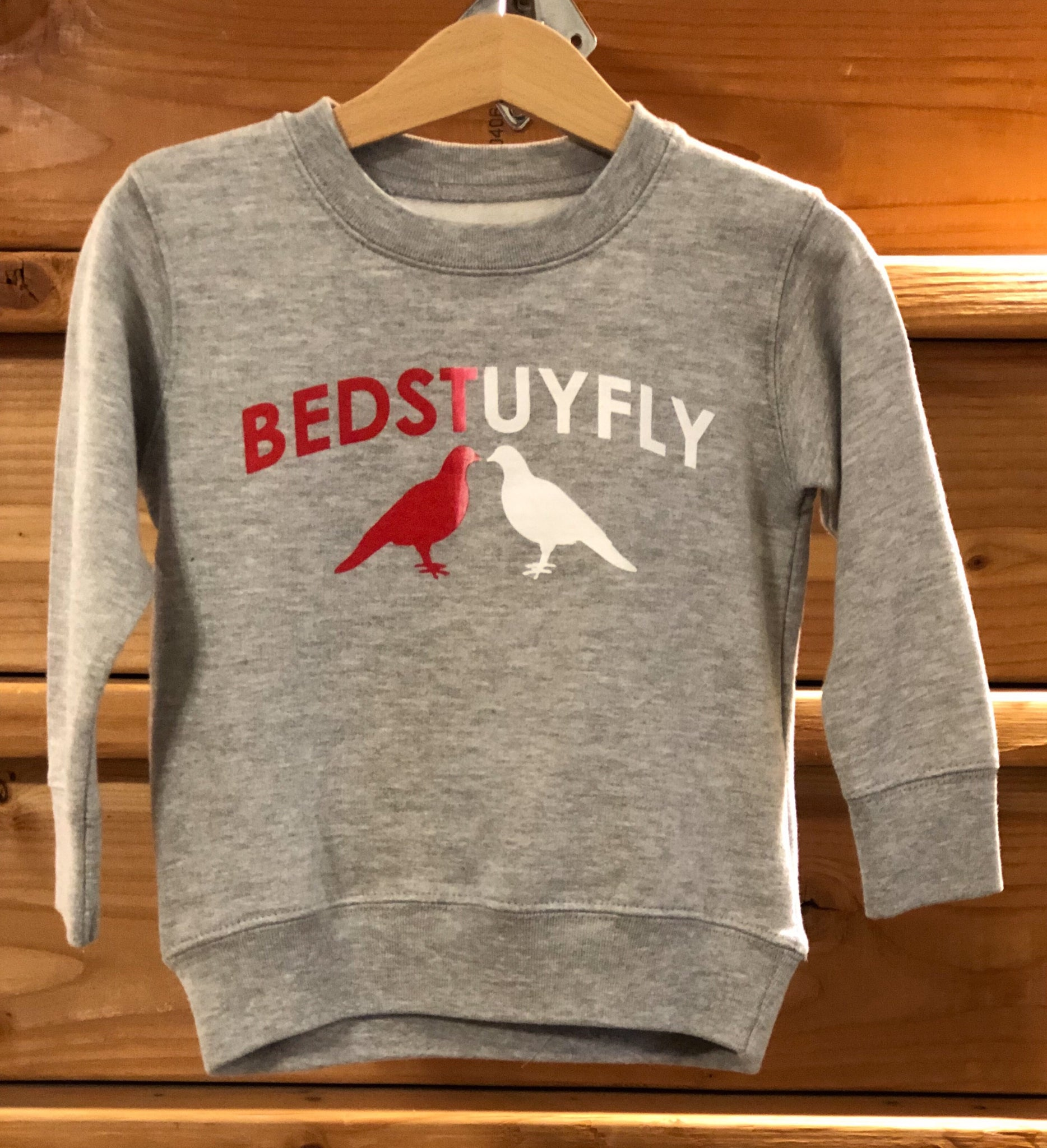 Bedstuyfly Toddler Sweatshirt (Gry)