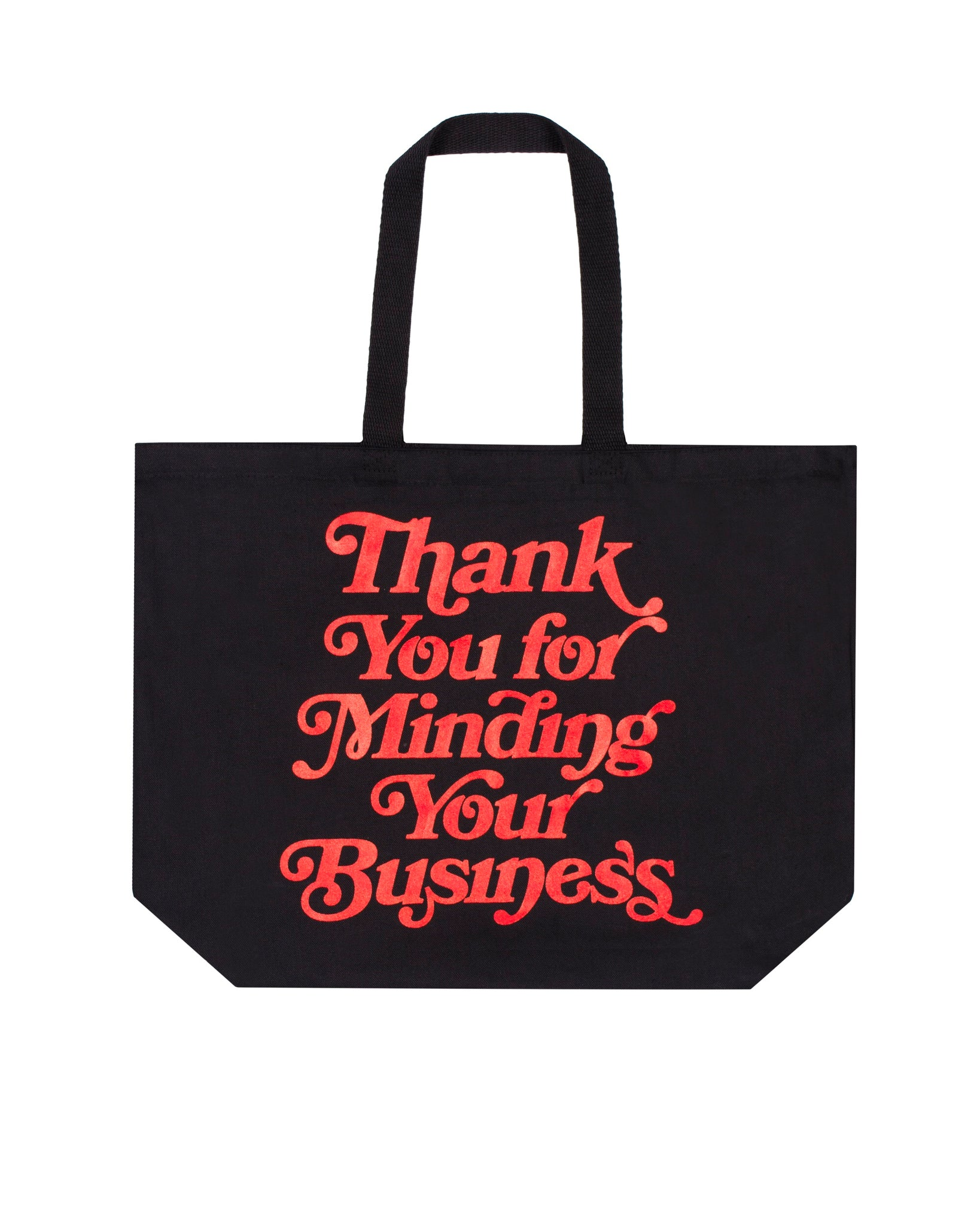 Mind Your Business Tote Bag (Blk/Red)