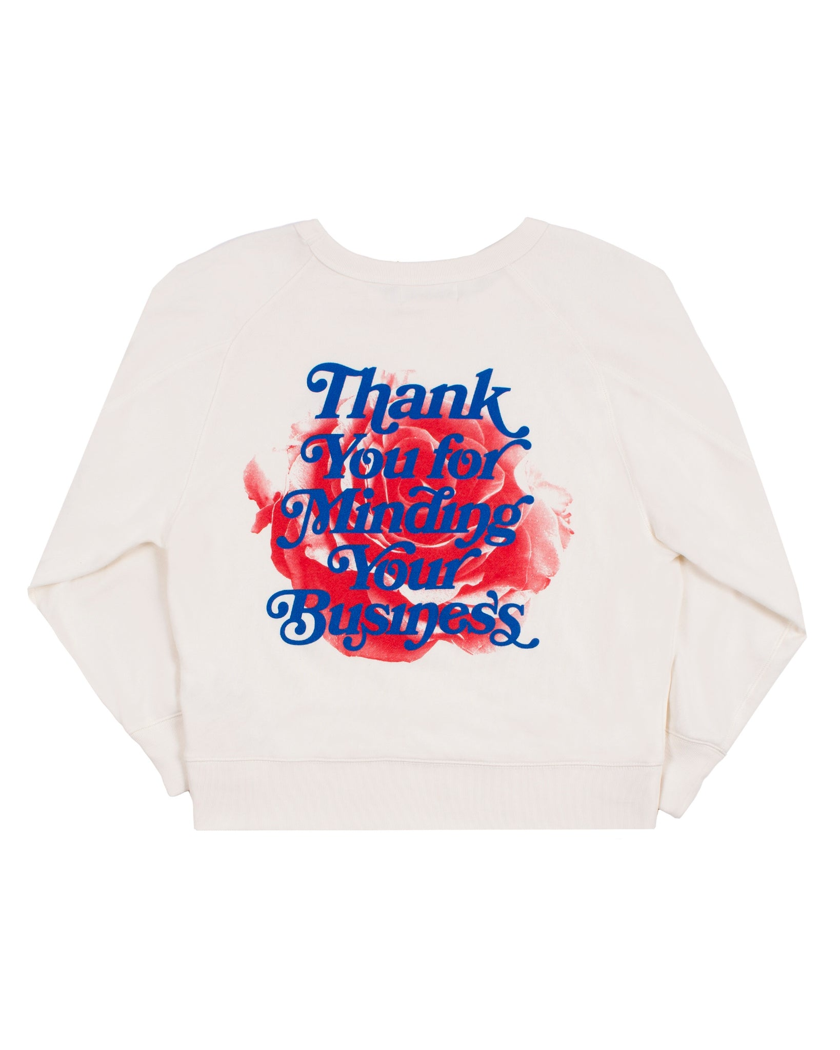 Mind Your Business Women Sweatshirt (Cream)