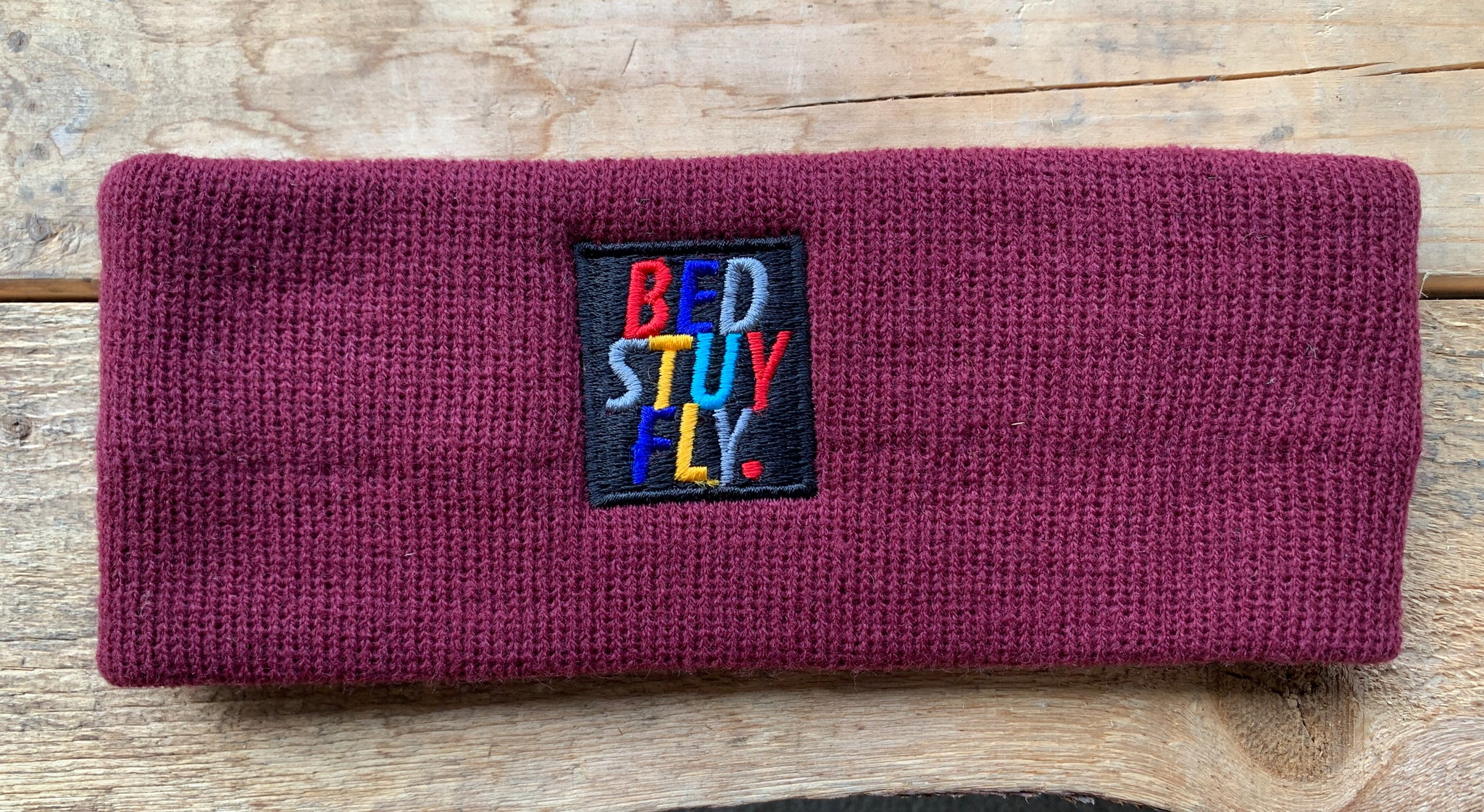 Bedstuyfly Colors Headband (Burgundy )