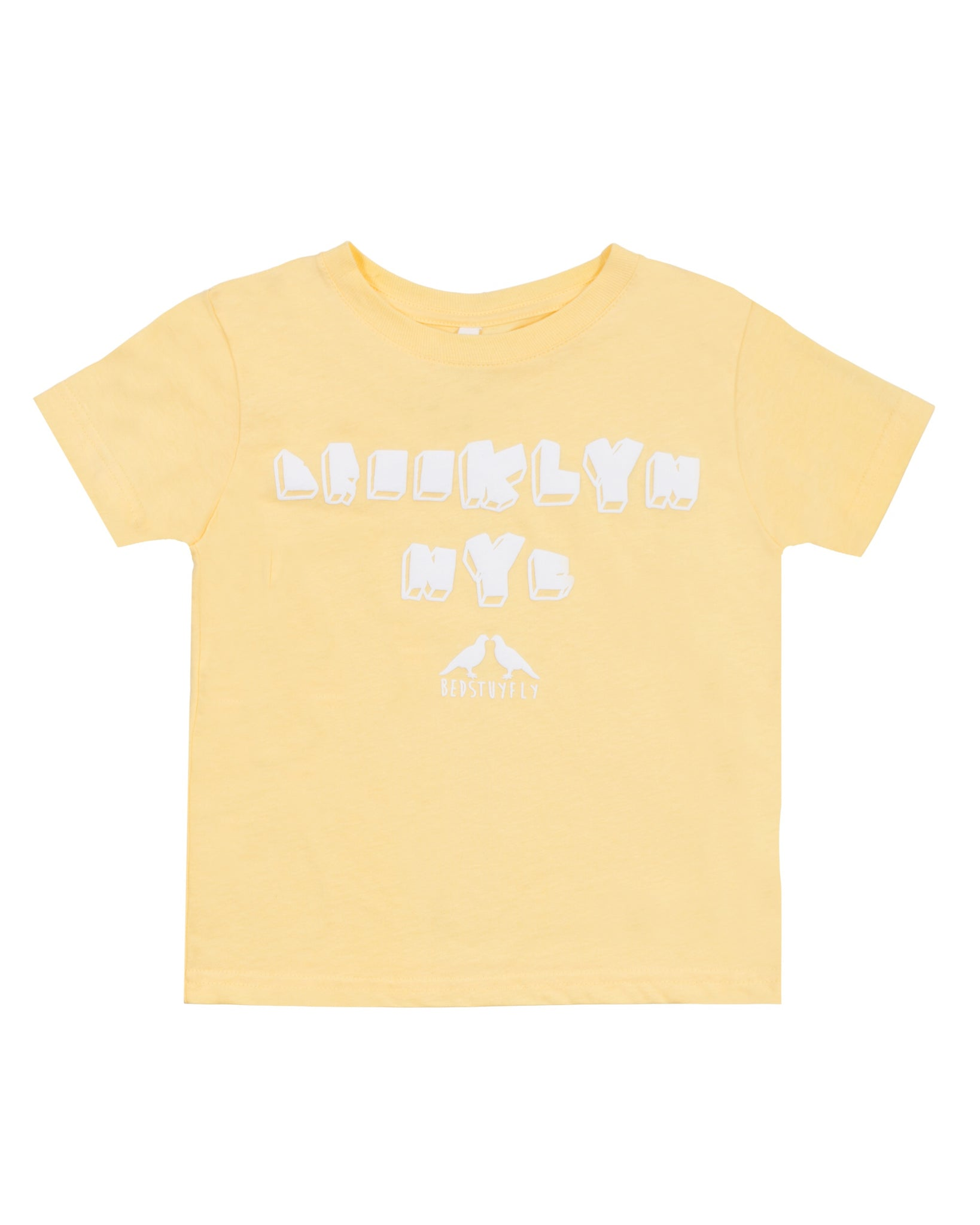 Brooklyn NY Kids T-Shirt (Yellow)