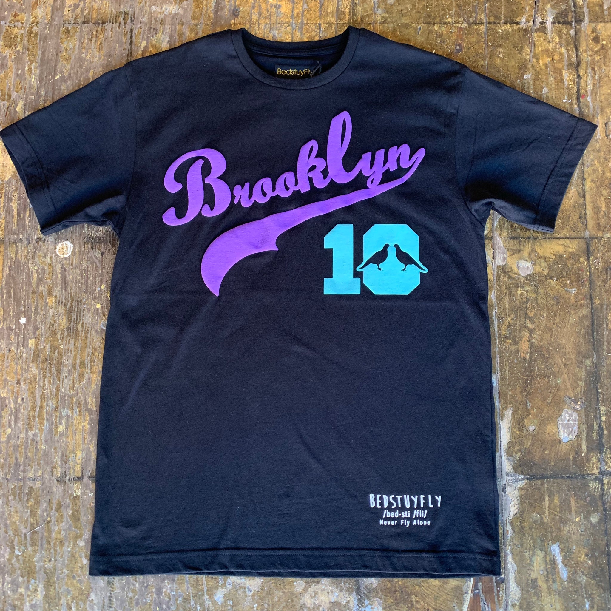 Brooklyn T-Shirt #10 (Blk/Prp)
