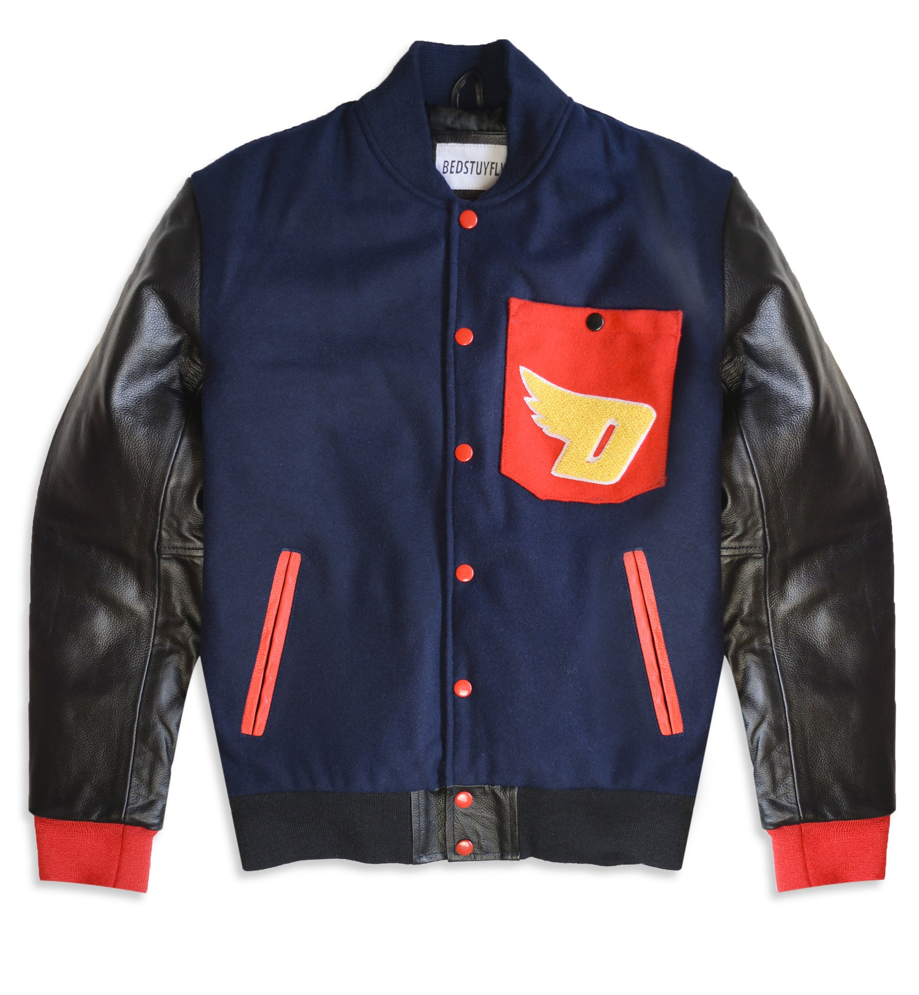DUTY FREE VARSITY JACKET ( NAVY)