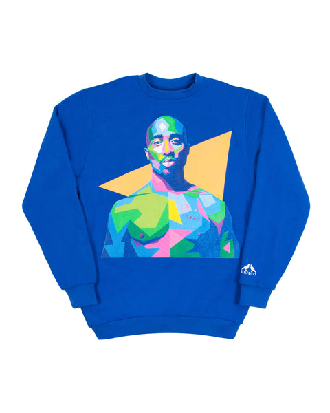 Tupac Sweatshirt (Royal Blue)