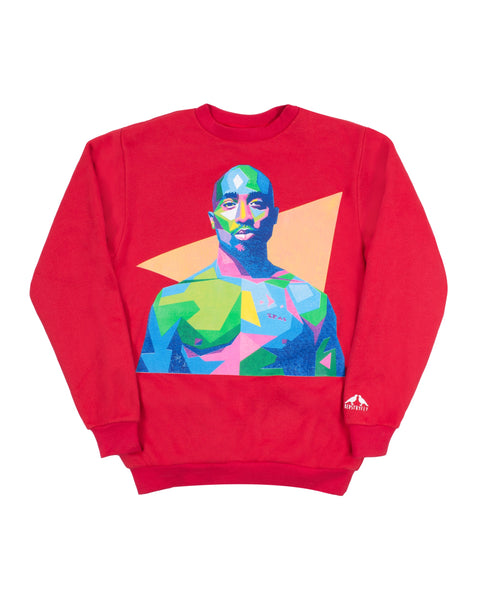 Tupac Sweatshirt (Red)
