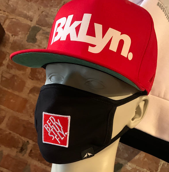 Bedstuyfly Face Mask (Black/Red)