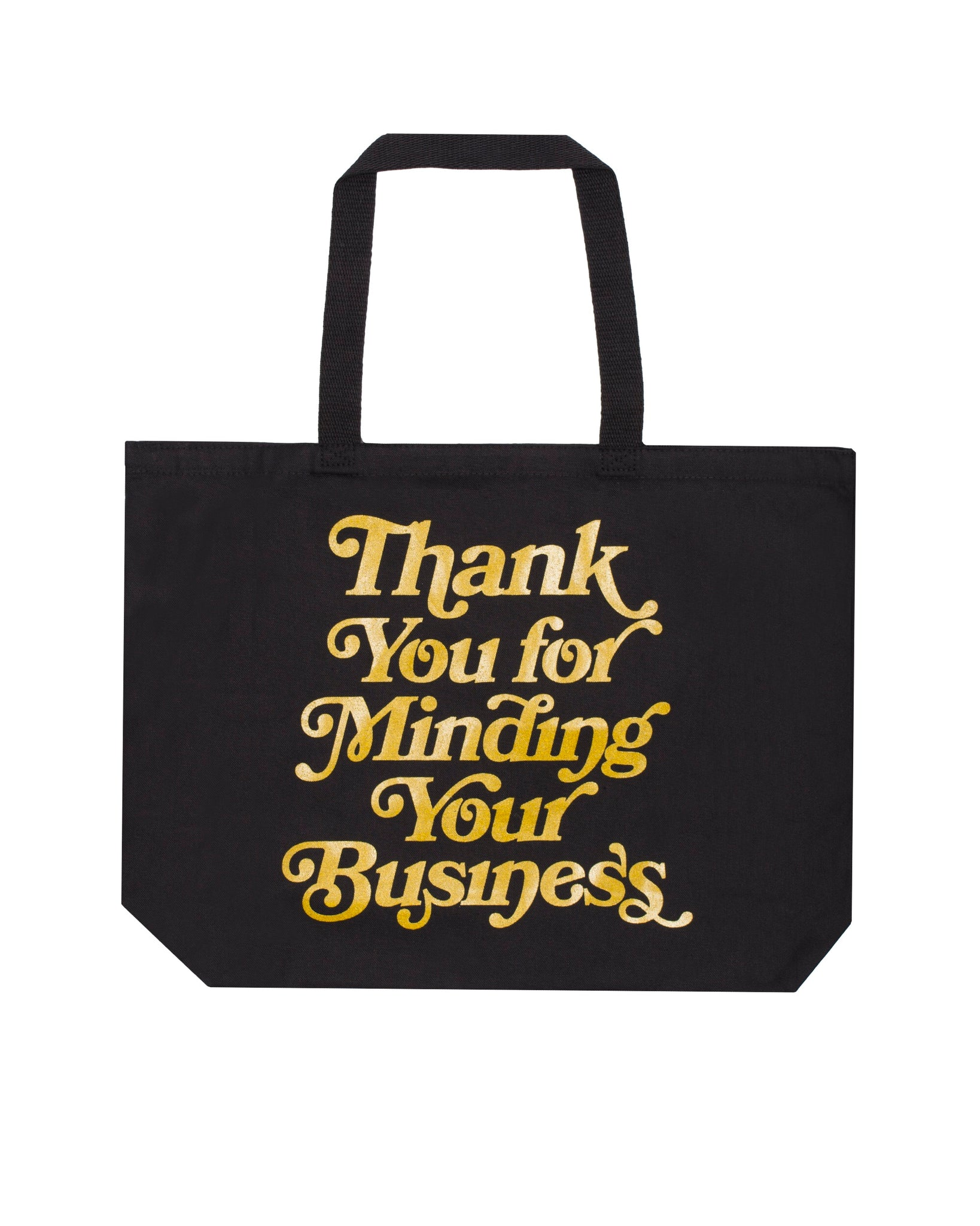 Mind Your Business Tote Bag (Blk/Gold)