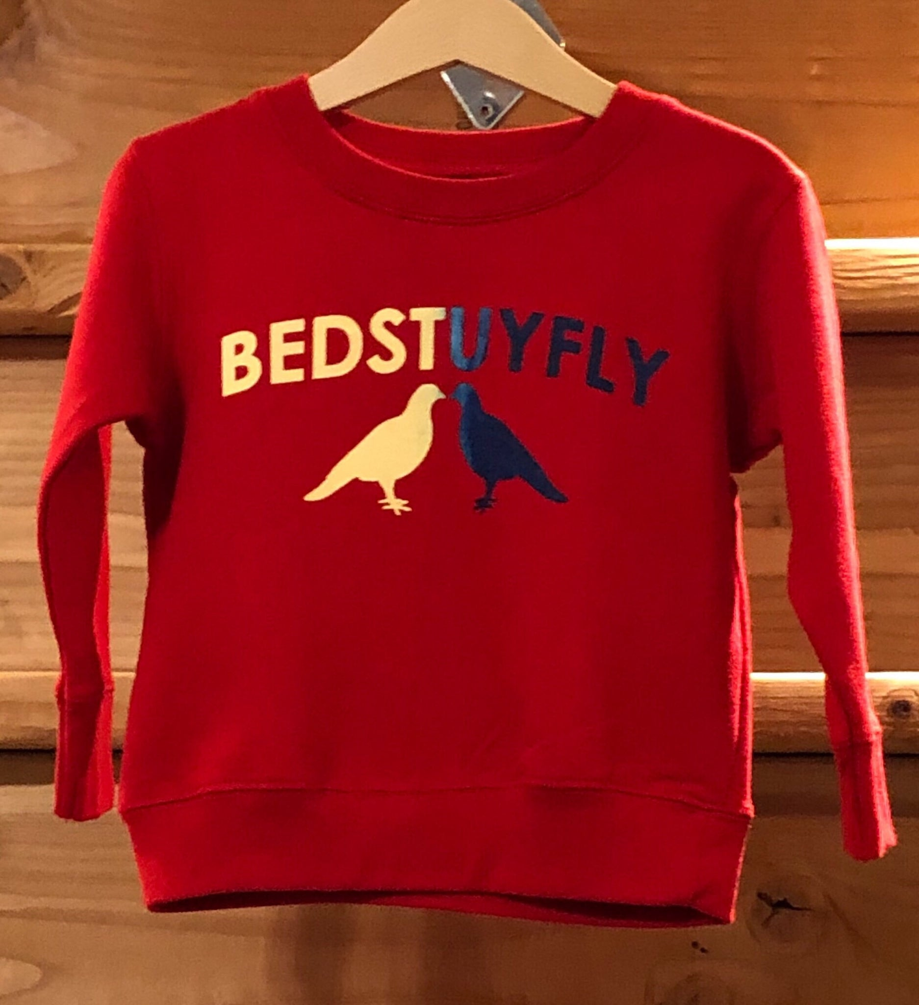 Bedstuyfly Toddler Sweatshirt (Red)