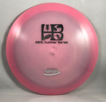 WCDG 2016 HB Summer Series Stamp, Innova Glow Champion Boss_Pink Shimmer with Black Stamp_175g