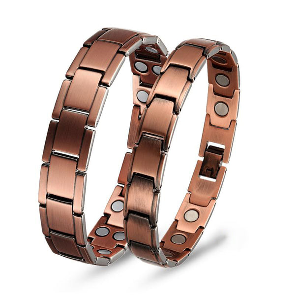 Pure Copper Magnetic Therapy Bracelet Pain Relief Couple Bracelet