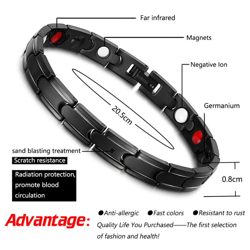 Powerful Stronger Titanium Magnetic Bracelet for Arthritis