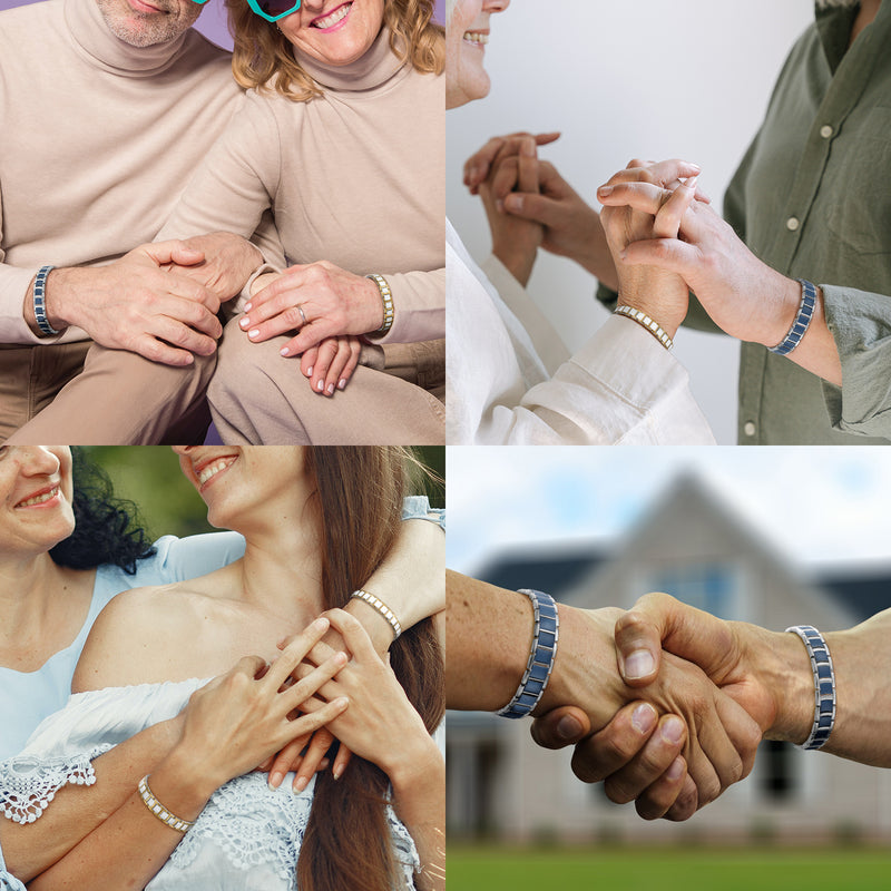 Powerful Most Effective Stainless Steel Couple bracelet Magnetic Therapy Bracelets