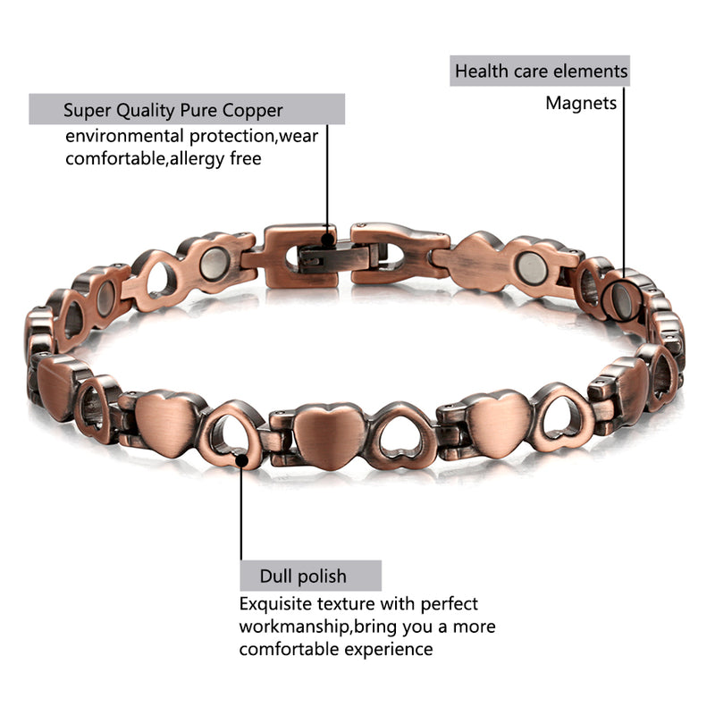 Copper bracelet with magnets| Copper Bracelet Benefits | Rainso Magnetic Bracelet