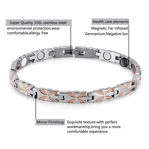 Womens Powerful Most Effective Magnetic Therapeutic Bracelet for Arthritis