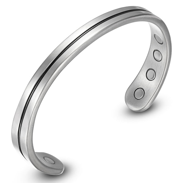 Rainso Light Titanium Magnetic Therapy Golf Bracelets Bangle for Arthritis