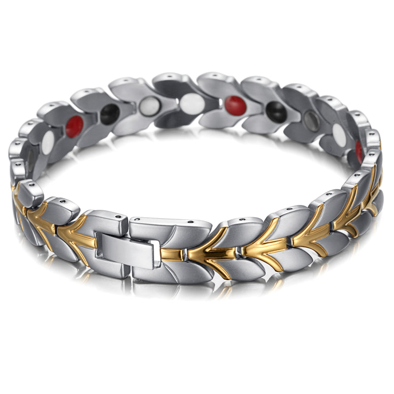 Pain and Inflammation Couple Magnetic Bracelet Relieve Stainless Steel