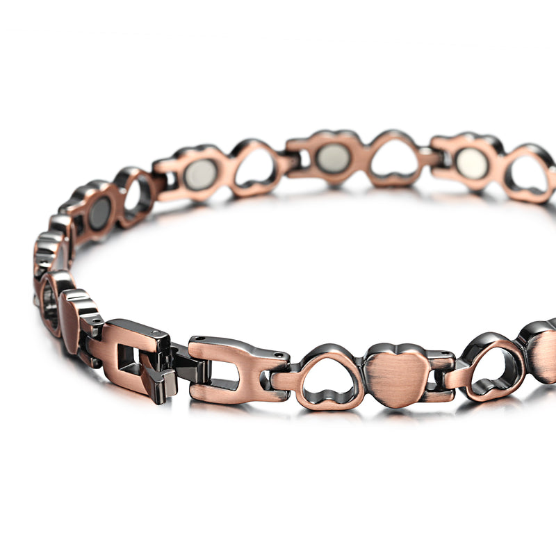 Rainso Pure Copper Magnetic Therapy Bracelet for Arthritis