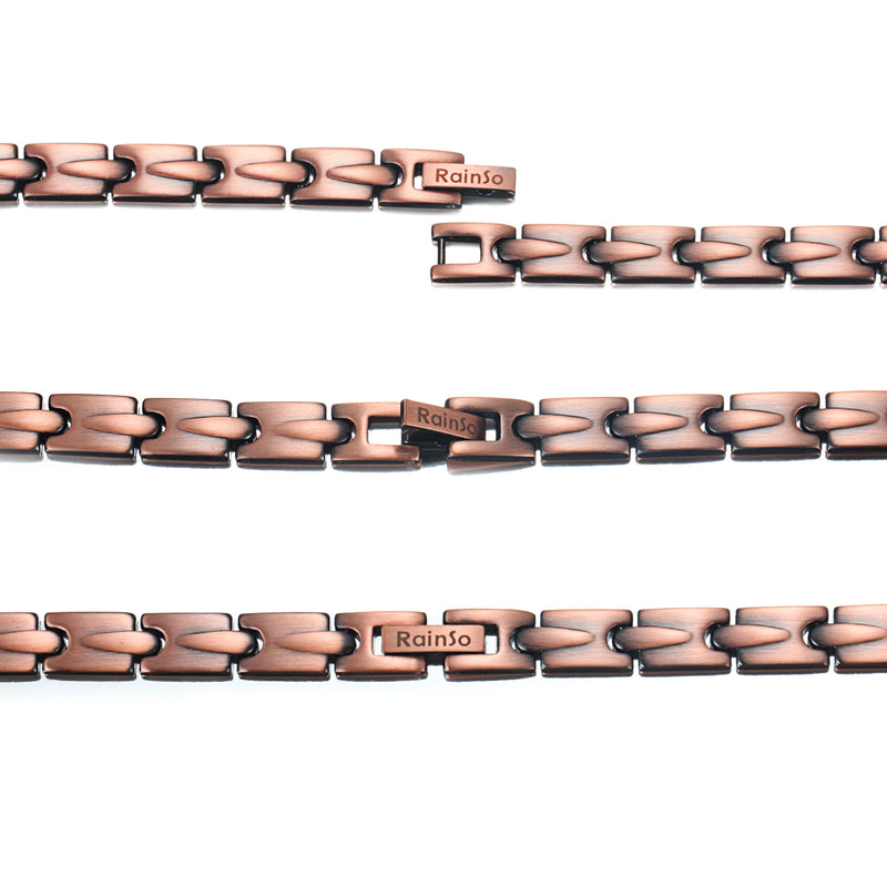 Rainso Pure Copper Magnetic Therapy Bracelet for Pain