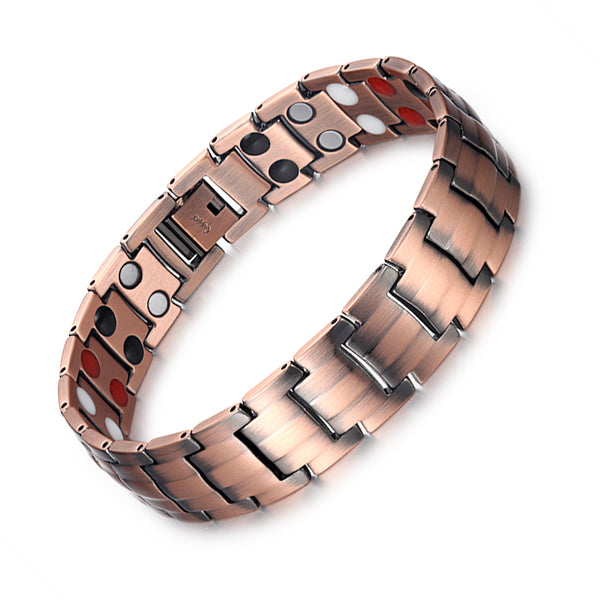 Powerful Mens Copper Magnetic Therapy Bracelet for Arthritis