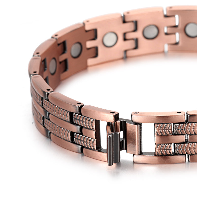 Mens Ultra Strength Powerful Magnetic Copper Arthritis Bracelets