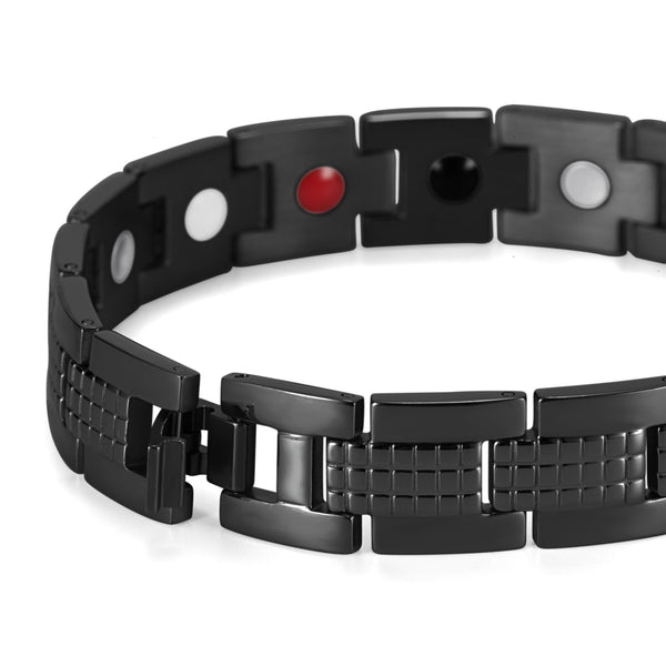 Powerful Stainless Steel Magnetic Therapy Bracelet for Pain
