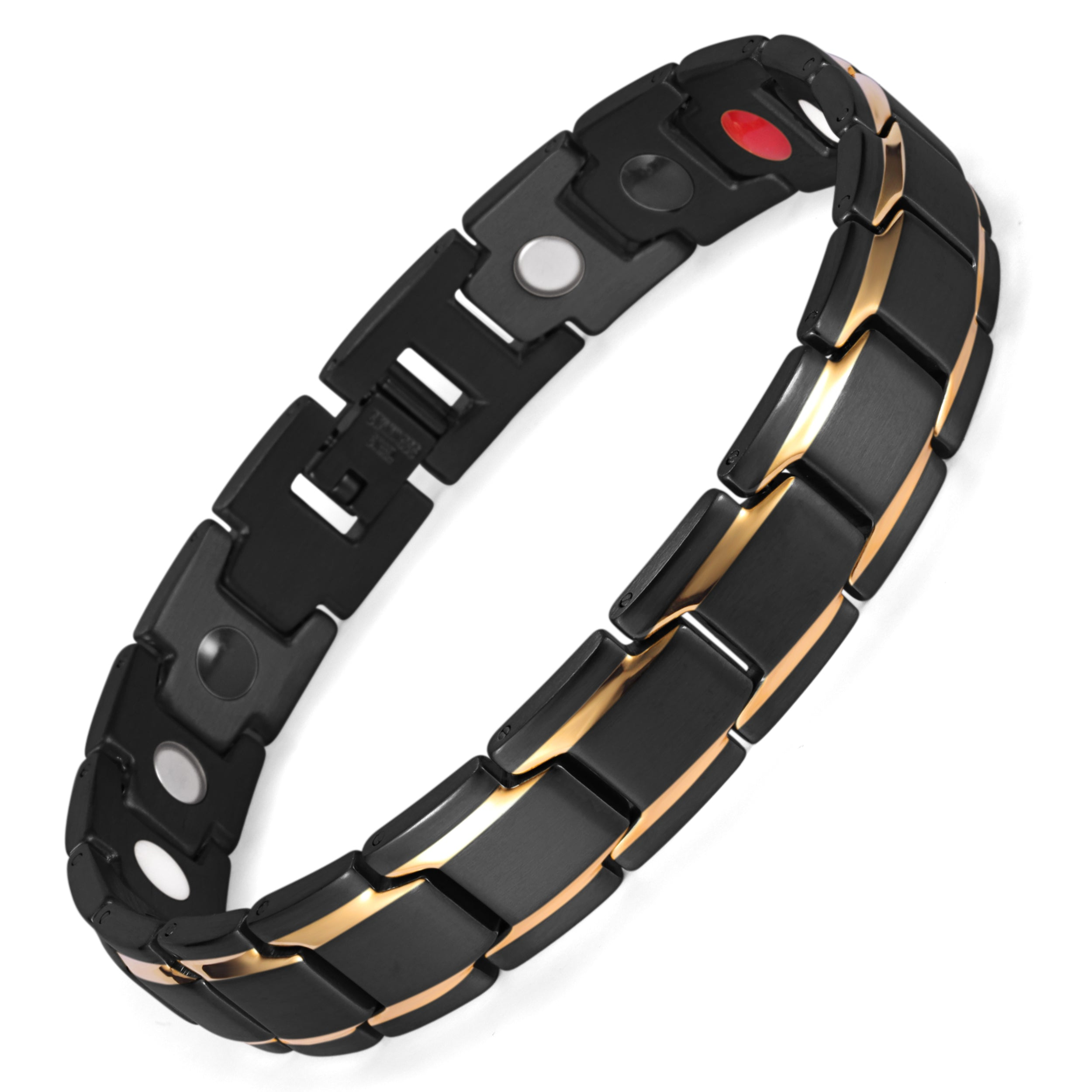 b295d696f4689 Bio Energy 4 in 1 Stainless Steel Magnetic Bracelets Benefits for Pain  Arthritis