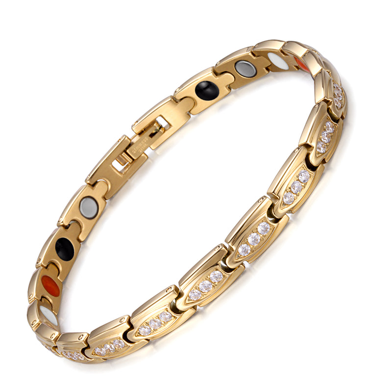 Pain and Inflammation Women Magnetic Bracelet Relieve Stainless Steel