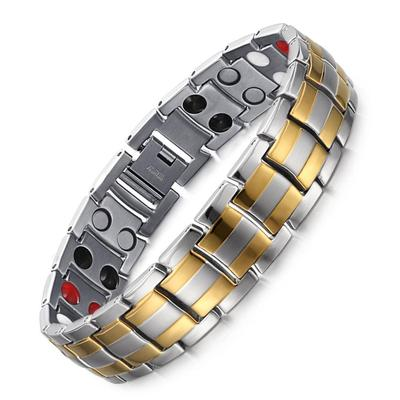 Couple Magnetic Bracelet For Pain Relief  Titanium Magnetic Therapy Bracelet