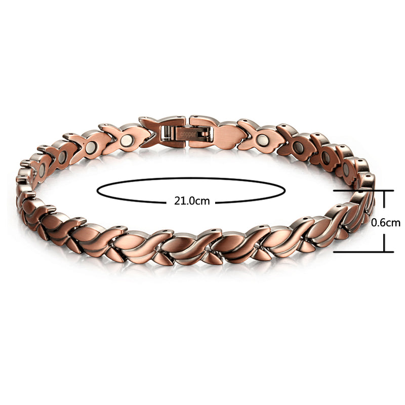 Blossom of Women-Health Care Pure Copper Ankle Magnetic Bracelet  for Arthritis