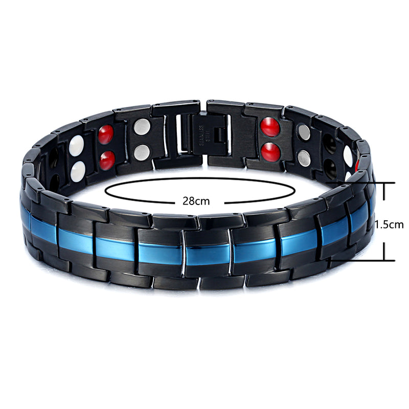 Mens Stainless Steel Best Magnetic Bracelets for Arthritis Pain Relief Bracelet
