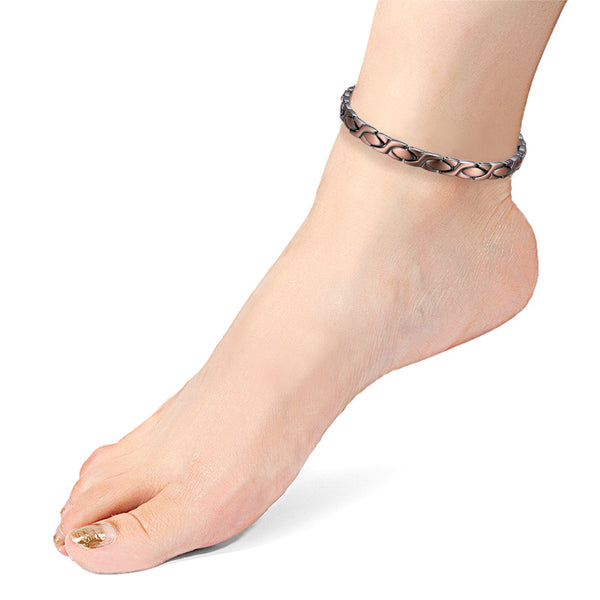 Womens Pure Copper Magnetic Ankle Bracelets for feet Arthritis