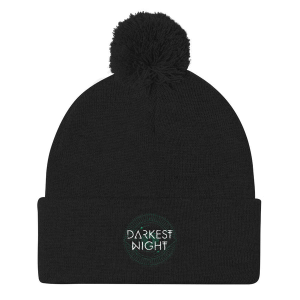 Darkest Night Pom Pom Knit Cap