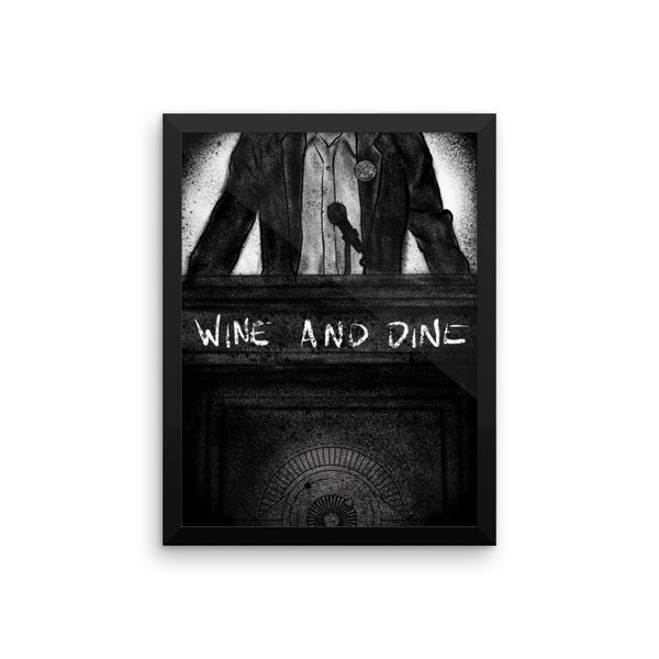 Chapter 12: Wine and Dine Framed Photo Paper Poster