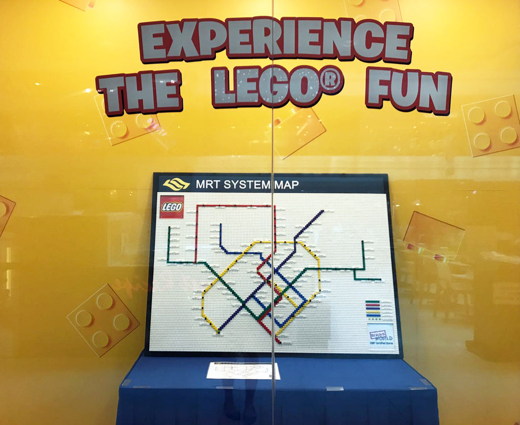 The FIRST ever LEGO® MRT Map in Singapore
