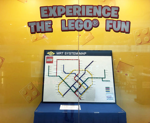 The FIRST ever LEGO MRT Map in Singapore