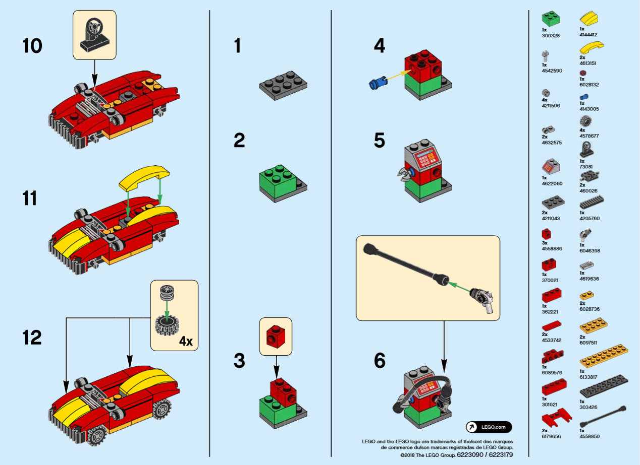 Lego Monthly Mini Build Instructions Car Gas Station