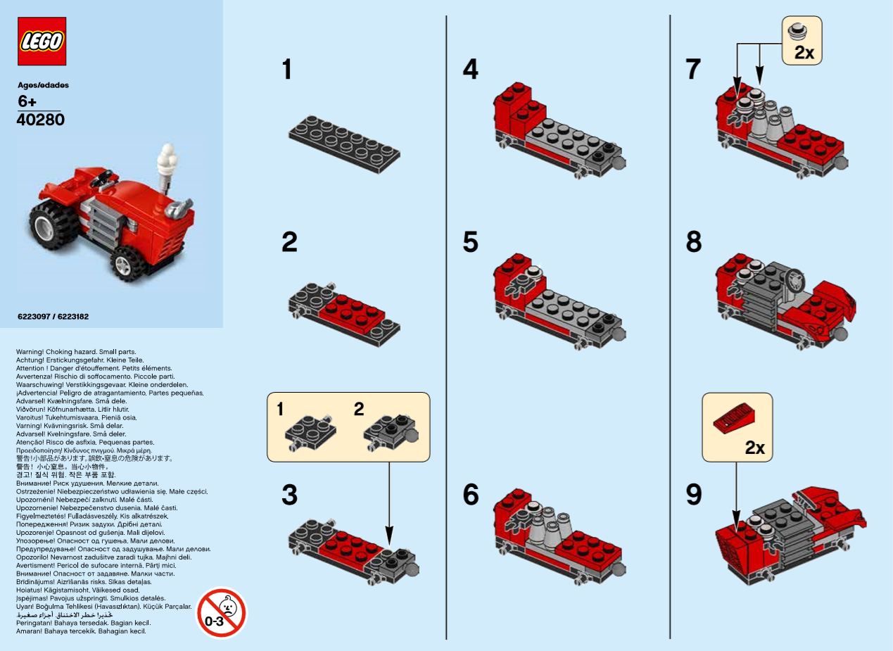 Lego Monthly Mini Build Instructions Tractor