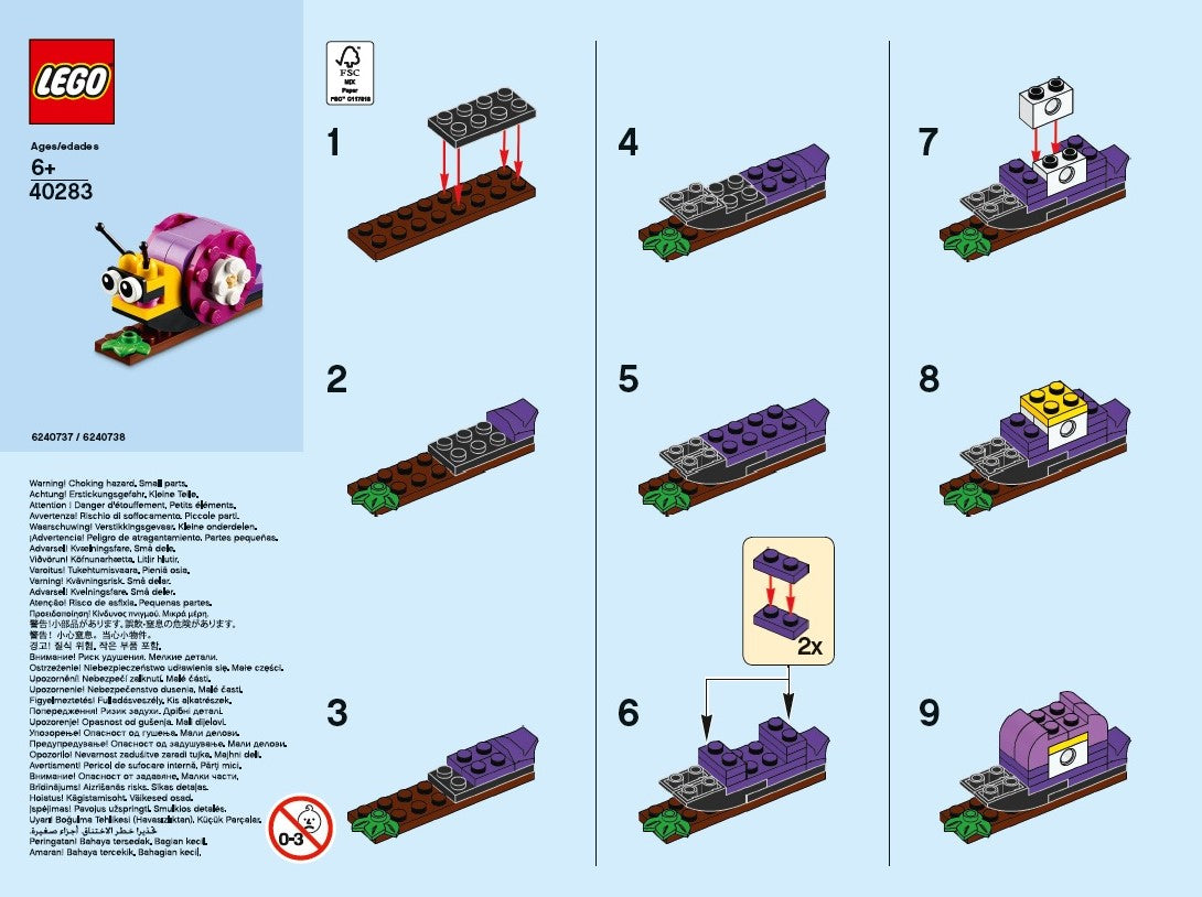 LEGO® Monthly Mini Build Instructions - Snail