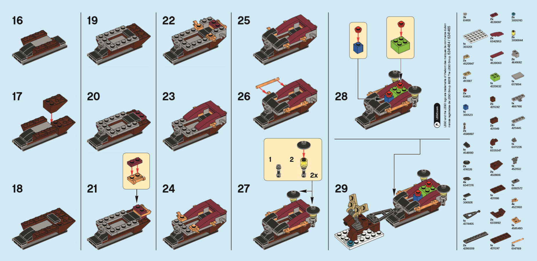 LEGO® Monthly Mini Build Instructions - Sleigh