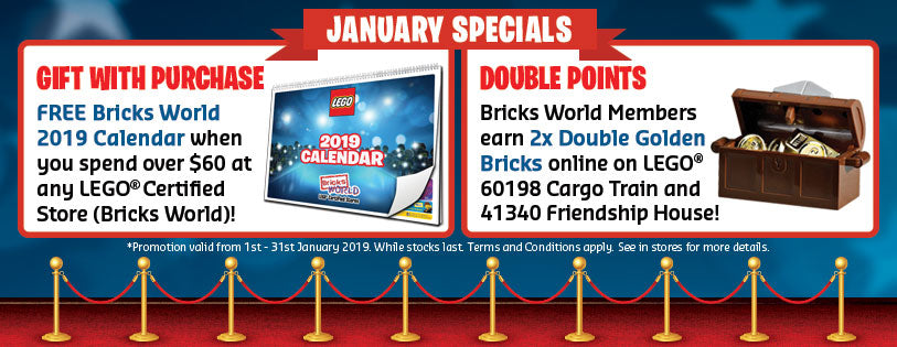 LEGO Certified Stores Bricks World January Specials