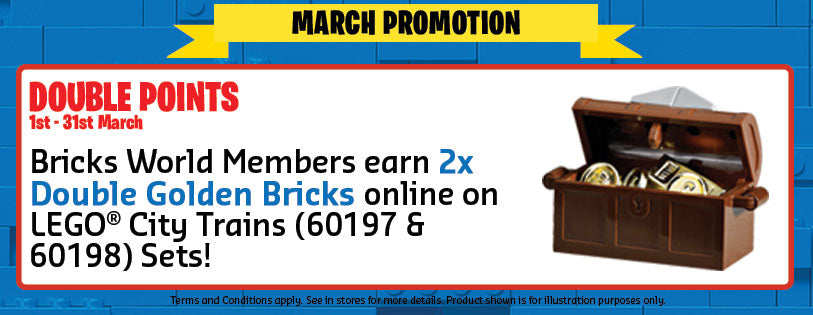 LEGO Certified Stores Bricks World March Promotion