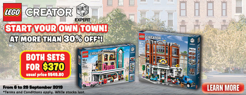 LEGO Modular Bundle Promotion Downtown Diner Corner Garage