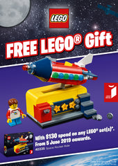 LEGO 40335 Space Rocket Ride Gift With Purchase June 2019