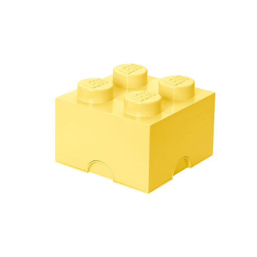 8015572 LEGO Storage Brick 4 - Cool Yellow - LEGO® Bricks World
