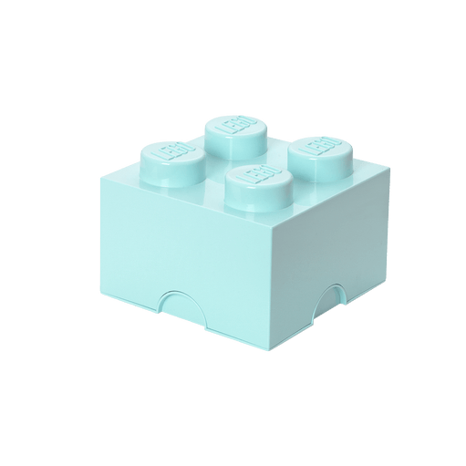 For Home - 8015589 LEGO Storage Brick 4 - Aqua Light Blue