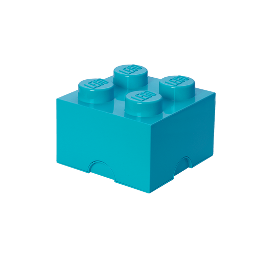 8015596 LEGO Storage Brick 4 - Medium Azure - LEGO® Bricks World