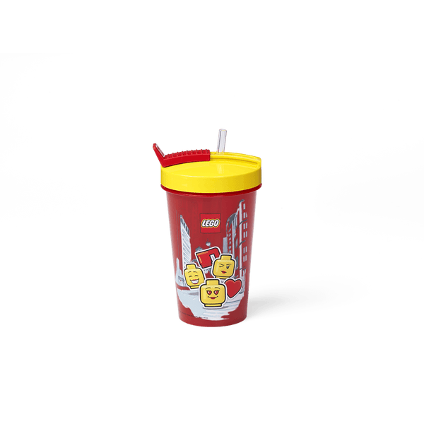 8030339 Iconic Girl Tumbler with Straw - LEGO® Bricks World
