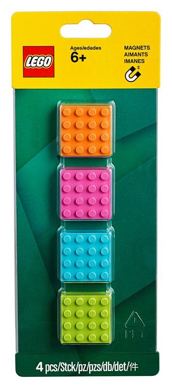 853900 LEGO® 4x4 Brick Magnets - LEGO® Bricks World