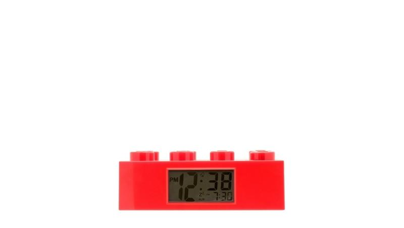 For Home - 9002168 Clock Brick- Red