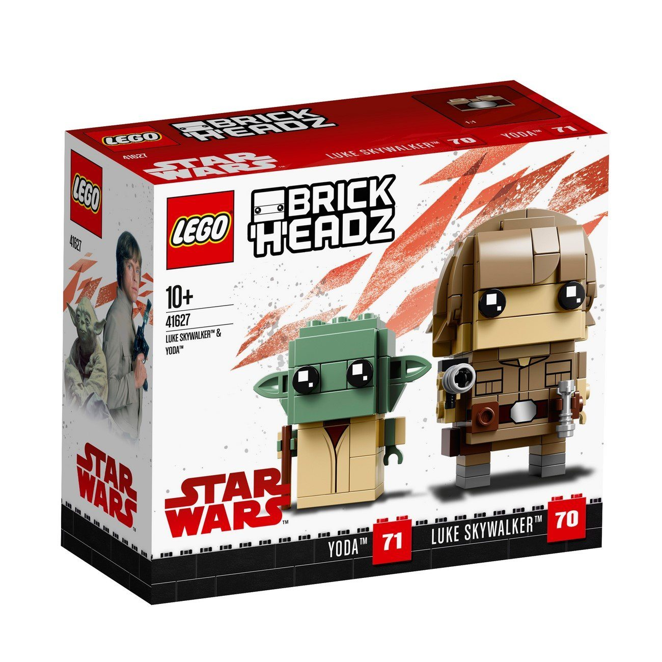 LEGO® BrickHeadz, LEGO® Star Wars™ - 41627 Luke Skywalker™ & Yoda™